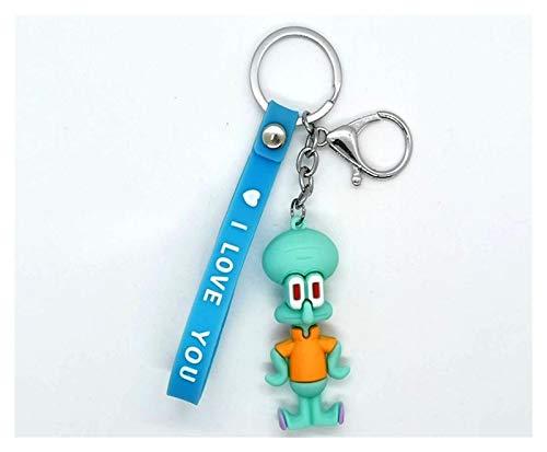Yzymyd Llavero de dibujos animados Spong Personajes Llavero para mujer, bonito llavero para mujeres, niños y niñas, regalo de juguete (color : Tentáculos calamares)