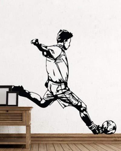 Tianpengyuanshuai Cool Man Sport Aufkleber Special Design Fußball Wandaufkleber Abnehmbare Art-50X50cm