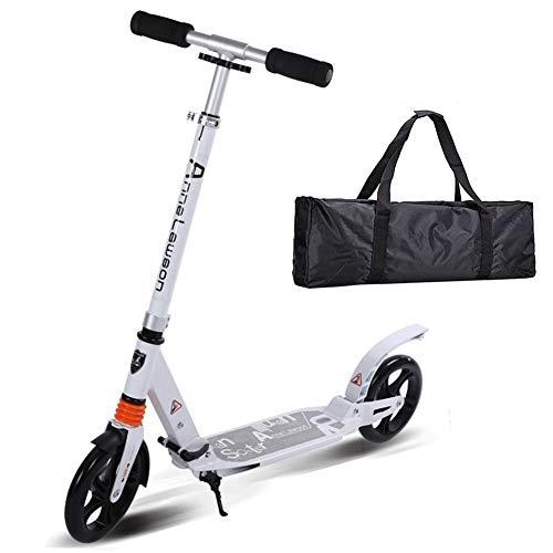 CYSHAKE Patinetes de patinete plegable Scooter plegable de dos ruedas Plegable con ruedas grandes Scooter no eléctrico Sistema de freno de disco Absorción de choque for adultos Niños Niños Niñas Adole