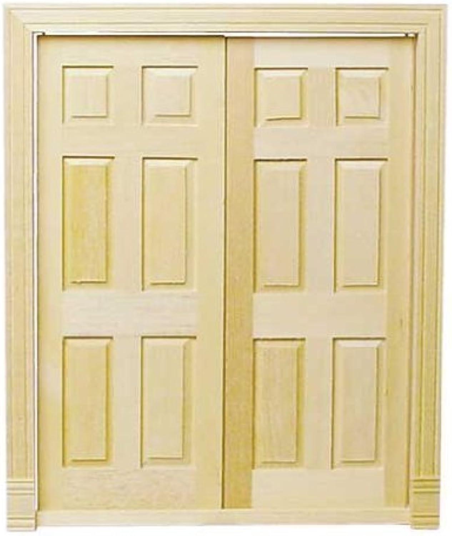descuentos y mas Dollhouse Dollhouse Dollhouse Miniature Double Entry Doors by Houseworks, Ltd.  con 60% de descuento