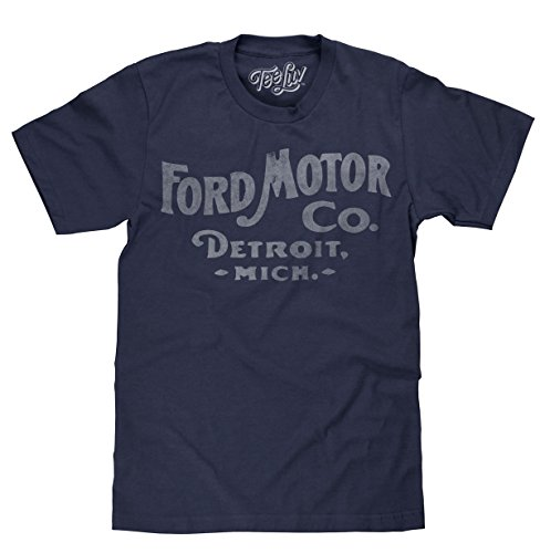 Tee Luv Ford Motor Company Shirt - Ford Detroit Graphic Tee Shirt (Small)