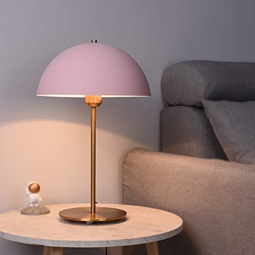 HGFMY Schreibtischlampe Designklassiker, Schreibtischlampe Tageslicht Büro, Stilvolle Tischlampen, Nachttischlampe Metall, Schwarz, Grau, Gold, Rosa, Für Büro, Wohnzimmer (Rosa)