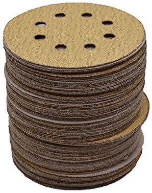 new arrival Hook Loop Pads Sanding Disc 5-Inch 8-Hole 100Pcs Aluminum Oxide Round Flocking Sandpaper 2021 for Sanding Grinder Polishing Accessories (60 80 120 150 180 220 240 320) discount Grit (60grit) online