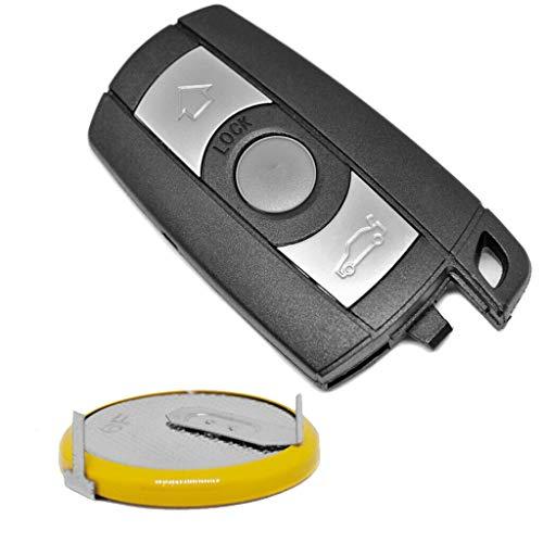 Auto Schlüssel Funk Fernbedienung Smartkey 1x Gehäuse 3 Tasten + 1x LIR2025 Akku Batterie für BMW
