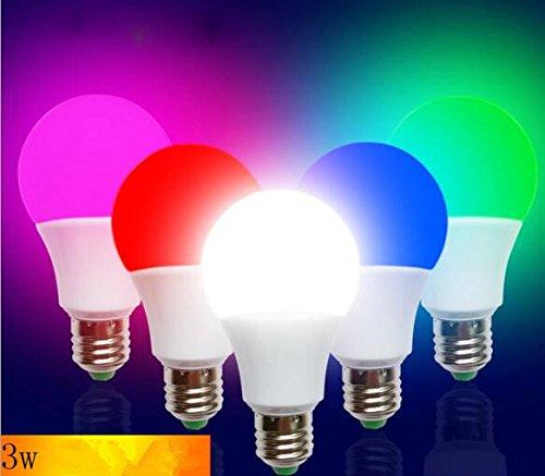 Best to Buy (2 PACK) Bug Light Green Blue Orange LED A19 3Watt=30W Medium Base 85-265 Volt UL Listed LED Light Bulb, last 25,000 Hours (Green)