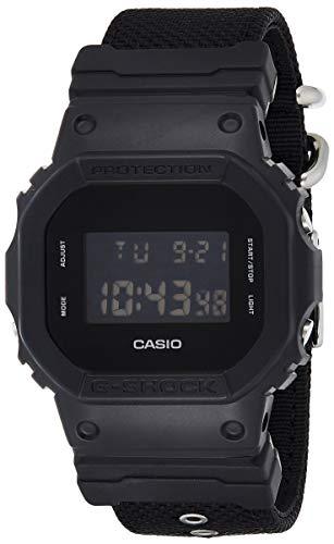 Casio G-SHOCK Orologio 20 BAR Digitale, Uomo, con Cinturino in Cordura Nylon, DW-5600BBN-1ER