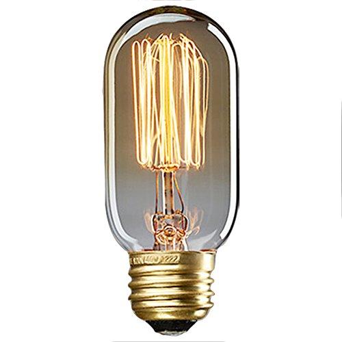 40W E27 Weinlese Glühlampe Schraube Glühlampe Altmodische Edison Art Glasantike Lampe-T45