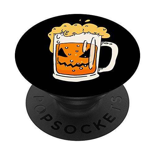 Lustiger Halloween-Laternen-Kürbis-Trinktrupp des Bier-O - PopSockets Ausziehbarer Sockel und Griff für Smartphones und Tablets