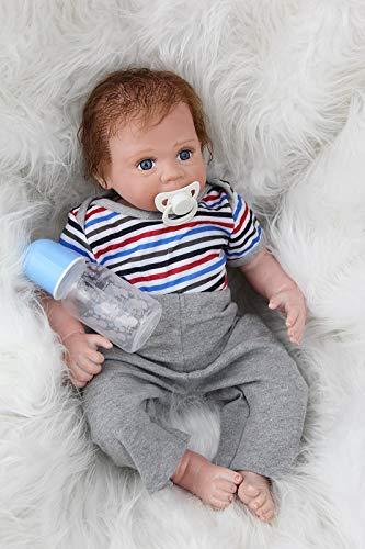 ZIYIUI 20 inch Muñecos Reborn bebé Reborn Niño Silicona Bebe Reborn Babys Dolls Realista Recién Nacido Magnetismo Juguetes 50 cm