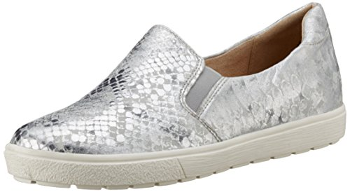Caprice 24662, Damen Slipper, Silber (SILVER METAL.), 42 EU (8 UK)