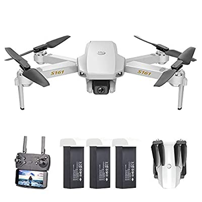 Goolsky Mini Drone with Camera 4K for Adults Kids HD Altitude Hold Follow Me Gesture Photos Video Track Flight RC Quadcopter with Storage Bag S161