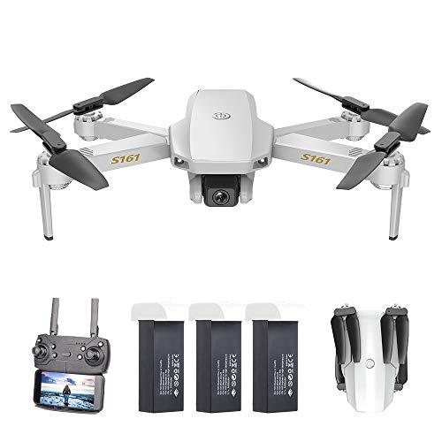 Goolsky S161 Mini PRO Drone Drone con Fotocamera 4K Altitudine Hold Seguimi Gesto Foto Video Filp 3D Track Flight RC Quadcopter Borsa di stoccaggio 3 batterie