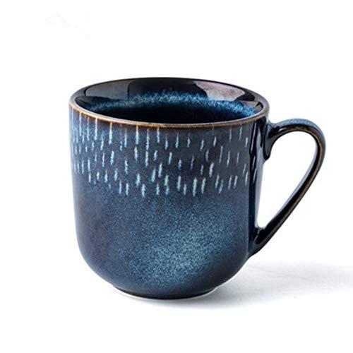 ZKGHJOKZ Mok Creatief Blauw Aardewerk Keramische koffiemokken voor thee Kinderen bekers en mokken Reisbeker voor thuiskantoor Ontbijt Melkbekers Meisje Gift