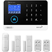 DIGOO HOSA 2G Wireless Home and Business Security Alarm System, 433MHz GSM&WIFI Smart Security System DIY Kits, Burglar Alarm With Full Touch Screen,Auto Dial and APP Remote Control