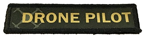 1x4' Drone Pilot Morale Patch. 1x4' Hook and Loop Made in The USA