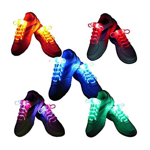 BestTrendy 5 Paires Lacets Lumineux LED Light Up Lacets LED Lacet ,Lacets Lumineux Pour Hip-hop Claire Petit Fête Disco Dance Etanches