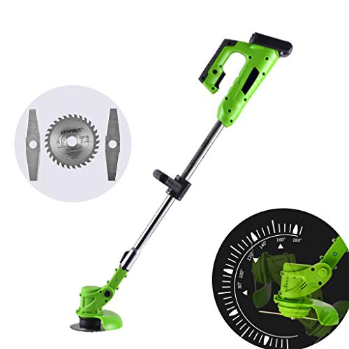 Why Choose Brushless Lawn Mower, 21V Lithium Battery Cutter, Cutting Diameter 14CM, Equipped with On...