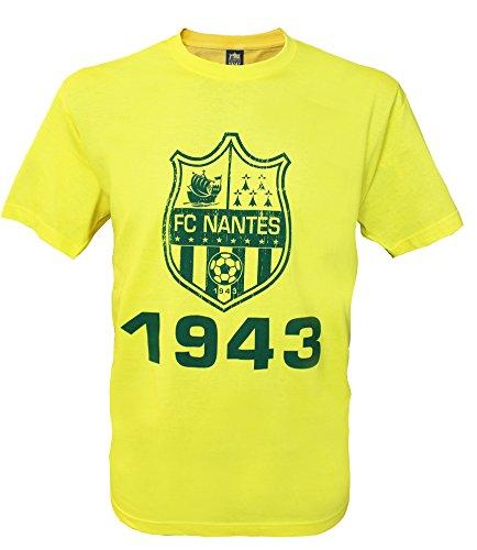FC NANTES T-Shirt Collection Officielle Football Club Nantes Atlantique - FCNA - Taille Enfant garçon Miel Giallo - Giallo 12 Ans