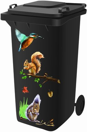 Wheelie Bin Stickers - Woodland