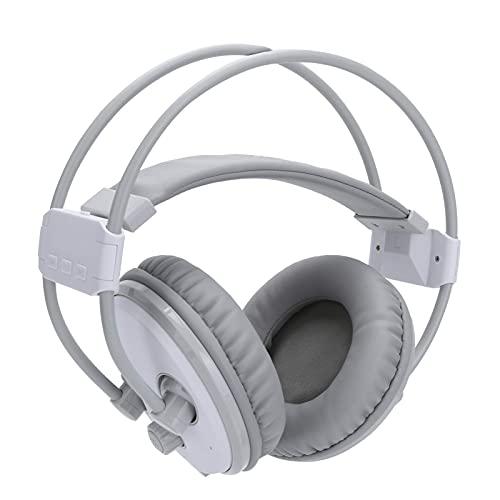 Bluetooth auriculares inalámbricos estéreo sonido sonido fm auriculares de radio? Auriculares para la oreja, soporte A2DP / AVRCP Bluetooth dispositivo (blanco) mei (Color : White)