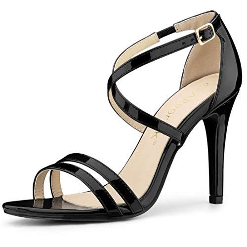 allegra k stilettos Allegra K Women's Crisscross Strappy Stiletto Heeled Sandals
