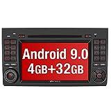PUMPKIN Android 9.0 Autoradio Radio für Mercedes-Benz A Klasse/B Klasse/Vito mit Navi 4GB / 8 Core Unterstützt Bluetooth DAB + USB CD DVD Android Auto WiFi 4G MicroSD 2 Din 7 Zoll...