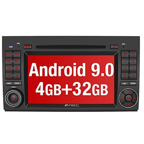 PUMPKIN Android 9.0 Autoradio Radio für Mercedes-Benz A Klasse/B Klasse/Vito mit Navi 4GB / 8 Core Unterstützt Bluetooth DAB + USB CD DVD Android Auto WiFi 4G MicroSD 2 Din 7 Zoll Bildschirm
