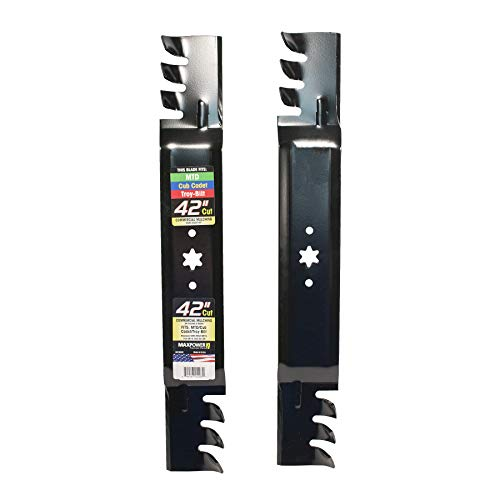 "MaxPower 561532XB Commercial Mulching Blade Set for 42"" Cut MTD/Cub Cadet/Troy-Bilt Mowers, Replaces OEM No. 942-0616, 742-0616, 942-04126 and Many Others"