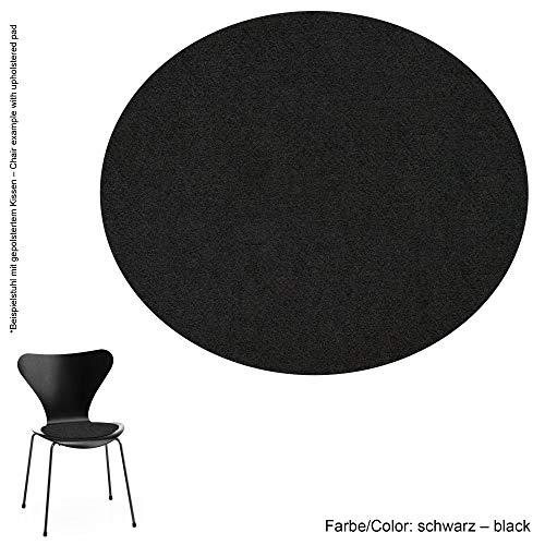 Feltd. Eco Filz Auflage 4mm Simple - geeignet für Fritz Hansen, Arne Jacobsen Serie 7 Stuhl, 3107 // - 29 Farben inkl. Antirutschunterlage (schwarz)