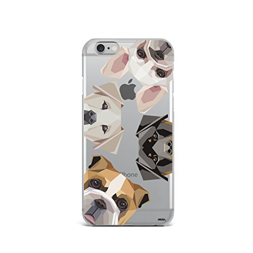 Milkyway Cases Dogs with Attitude Clear TPU Cell Phone Case for iPhone 6+ / 6S+ Plus (5.5')