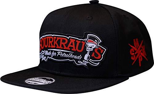 SOURKRAUTS Baseball Cap Herren & Damen mit Logo Patch – Snapback Kappe in Schwarz