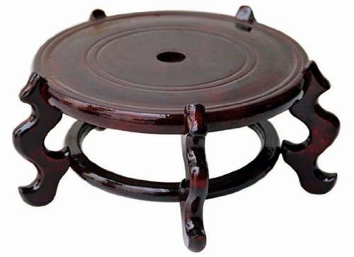 Asian Home Beautiful Hand Craft Rosewood Oriental Vase Stand 12.50'''