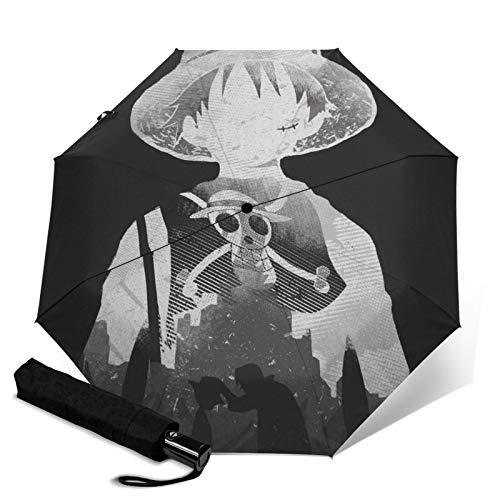 Monochrom paraguas de una pieza triple plegable abre y cierra automáticamente Waterpro de viaje sombrilla protección UV y plegable al aire libre conveniente capa de transporte