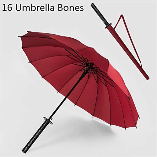 Regenschirm mit Samurai-Schwertgriff Ninja Katana Japanischer langer Regenschirm