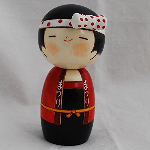 Muñeca japonesa Kokeshi – hecha a mano en Japón – Lucky Girl