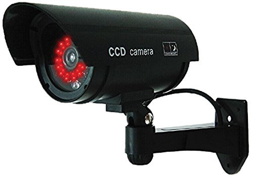 Outdoor Fake/Dummy Security Camera with Blinking Light (Color: Dark Grey with...