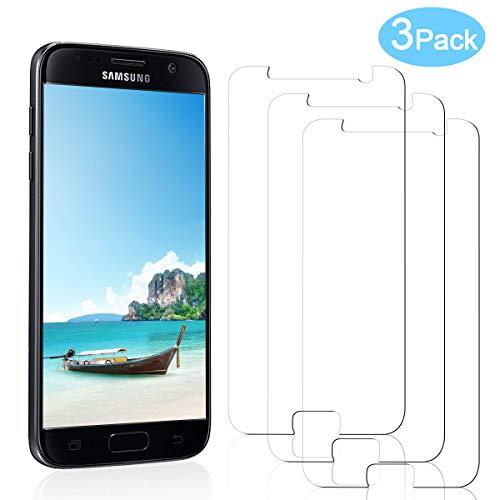 YIEASY 3-Stück Panzerglas Schutzfolie für Samsung Galaxy S7, [9H Härte] HD Displayschutzfolie für Samsung Galaxy S7 Panzerglasfolie, [Ultra Klar] Anti-Bläschen Anti-Kratzen Gehärtetem Glas