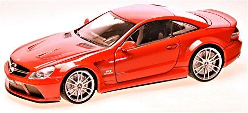 Mercedes SL65 AMG Black Series, rot , 2009, Modellauto, Fertigmodell, Motormax 1:18