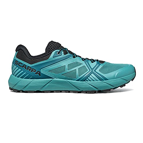 Scarpa SPIN 2.0, Zapatillas de Trail Running Hombre, Petrol-Black ARS FIXION 2, 41 EU