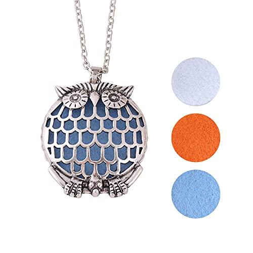 nice cheng Vintage Búho Hueco Árbol De La Vida Collar De Aromaterapia Creativo Difusor De Aceite Esencial Colgante Artículo Joyería