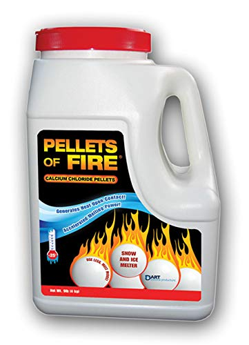 Pellets of Fire CP9 Snow & Ice Melter Calcium Chloride Pellets 9-Pound Jug
