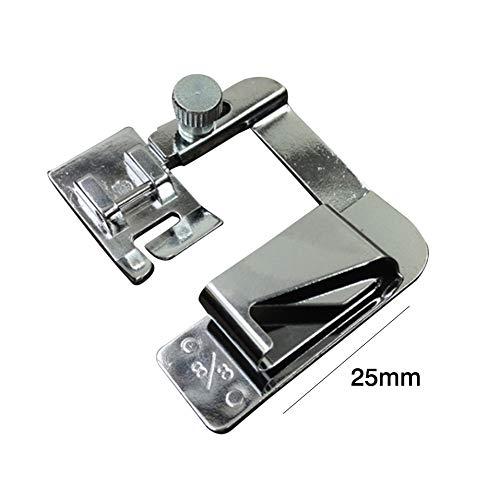 1 ST Hot Koop Huishoudelijke Naaimachine Voet Presser Gewalste Zoomvoeten Set voor Broeder Zanger Naaien Accessoires 3 Size 25mm