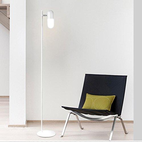 Good thing Lampadaire Lampadaire tournant nordique, personnalité créative salon de mode Chambre chevet étude LED Vertical lampadaire d'apprentissage (Couleur : Blanc)