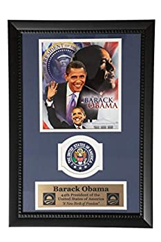 Encore Barack Obama USA 44th President Commemorative United Stated of America 12 x18  Patch Frame