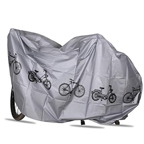 HYSJLS Funda Impermeable for Bicicleta Cubierta de la Bici al Aire Libre for la Bicicleta de la Bici Evitar Que la Lluvia Cubre Accesorios de Bicicletas Alfombrilla