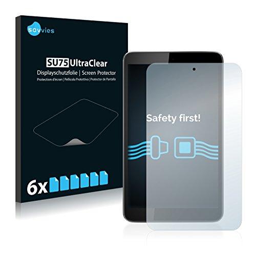Savvies 6X Schutzfolie kompatibel mit Vodafone Smart Tab 4 Bildschirmschutz-Folie Ultra-transparent