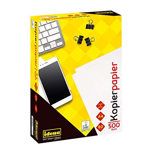 Idena 215006 - Kopierpapier DIN A4, 500 Blatt, ideal für den täglichen Gebrauch, zum Drucken, Kopieren und Faxen