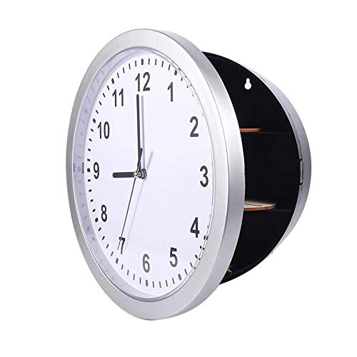 HYY-YY Kluis Wall Clock, Secret Wall Clock Veilige Container Box for Money Stash Jewelry Kostbaarheden Cash Storage