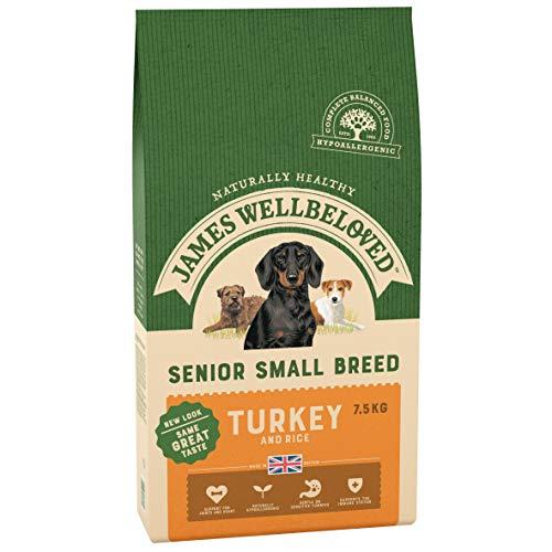 James Wellbeloved Alimento Completo seco para Perros de Raza pequeña para Pavo y arroz, 17 Libras
