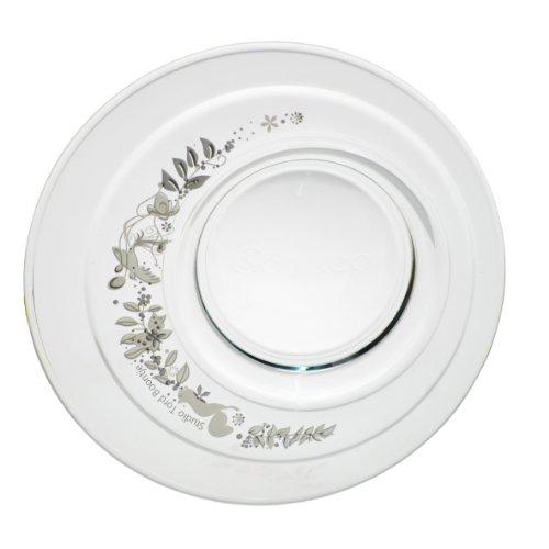 Tord Boontje Senseo Design Untertasse aus Glas, Silberne Ornamente